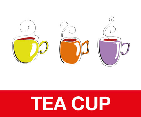 Tea Cups, bacgkrounds Vector