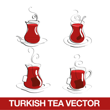 turkey istanbul: Turkish Tea Cup Illustration