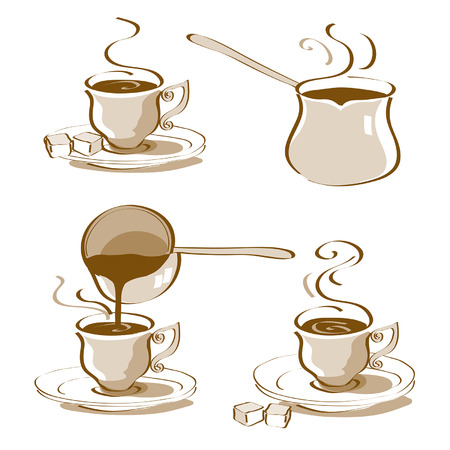 Turkish Coffee Vector Illustration
