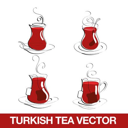 Turkish Tea Cup Ilustração