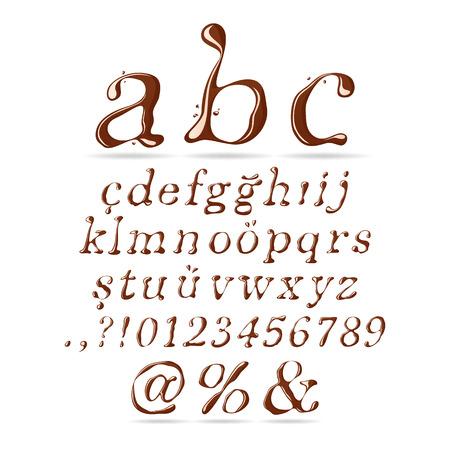 italic: Chocolate Alphabet Lower Case Italic