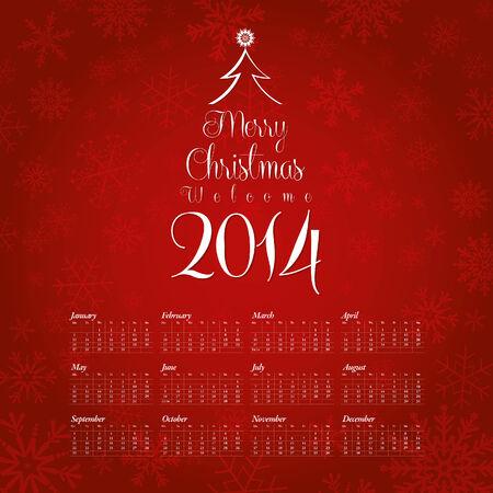 2014 Calendar Design Vector