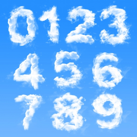 numbers abstract: Cloud numbers