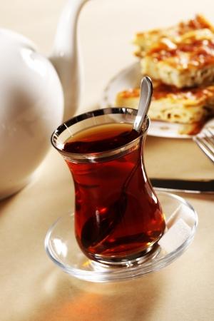 turk: Turkish Tea, Pastry With Cheese