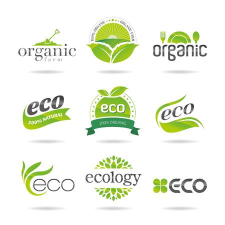 Ecology, organic icon set