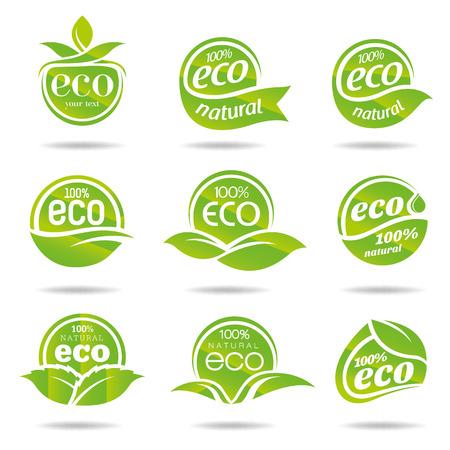 Ecology icon set  Eco-icons Illustration