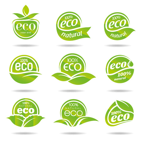 natural resources: Ecology icon set  Eco-icons Illustration