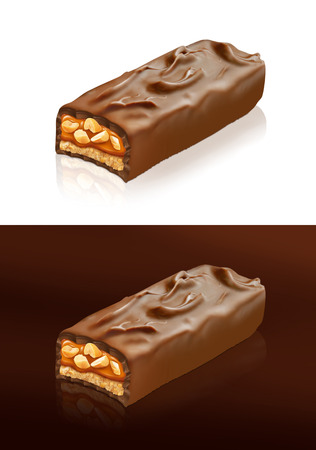 Closeup of chocolate bar with clipping path photo
