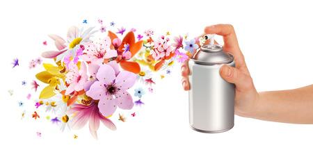 花香り部屋のスプレーおよび内部からの花