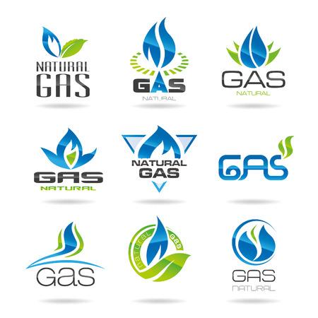 oil pipeline: Industria del gas s�mbolos-icon Vectores