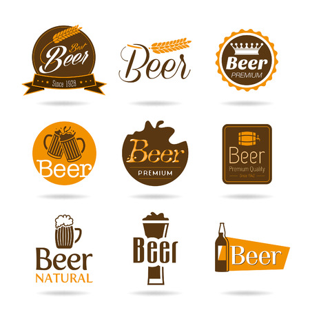 taverns: Beer icon set