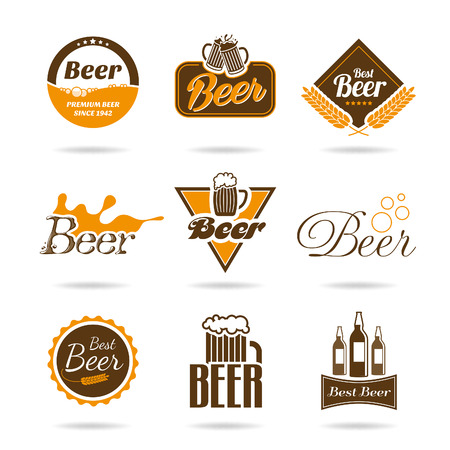 beer in bar: Beer icon set