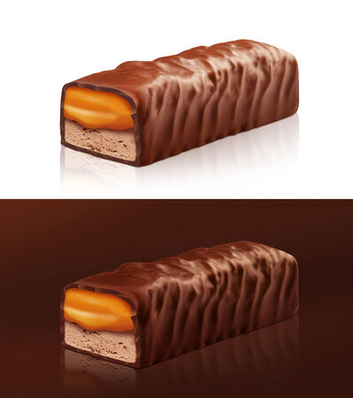 clipping  path: Chocolate bar with clipping path