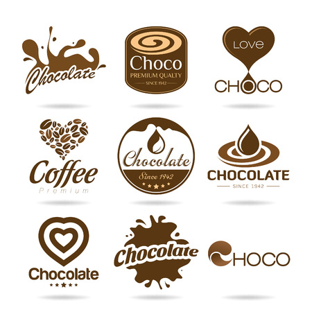 hot chocolate drink: Chocolate and coffee icon design - sticker Illustration