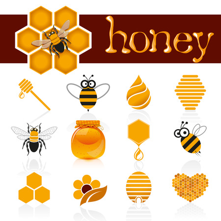 Honey icon set Иллюстрация