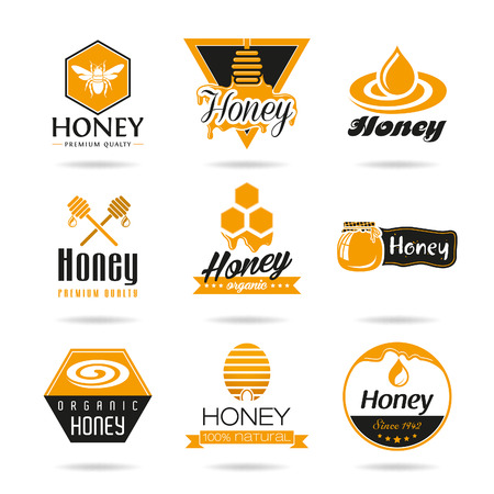 bee honey: Honey icon set Illustration