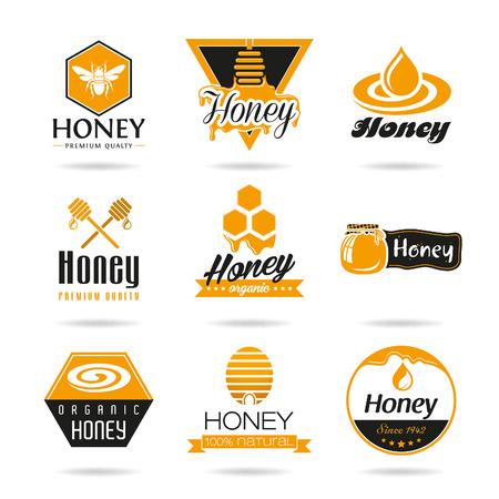 miel de abeja: Miel icon set