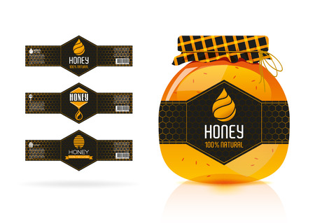 honey jar: Honey banner - sticker design 2