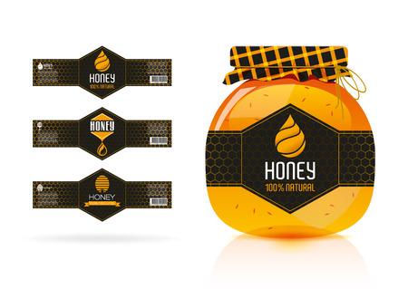 honey liquid: Honey banner - sticker design 2