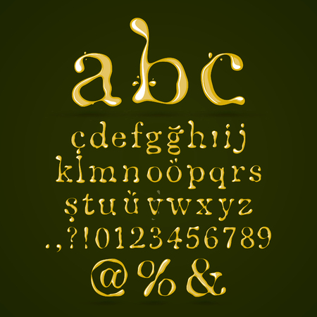 Olive oil alphabet lower case