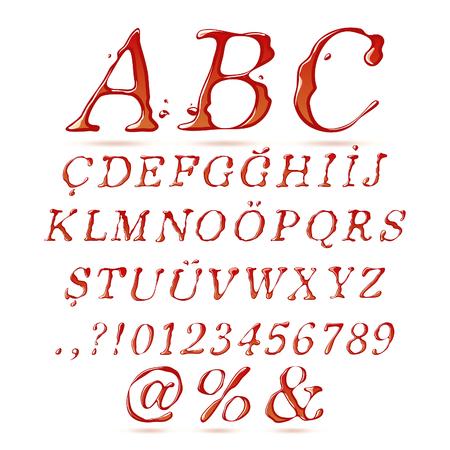 italic: Ketchup alphabet upper case italic