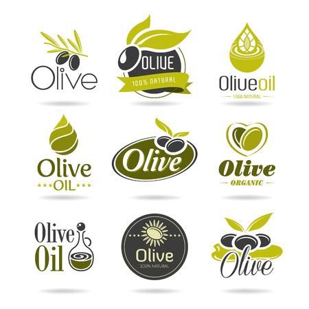 Olive icône de l'huile ensemble Banque d'images - 28463011