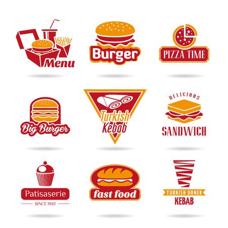 turkish dessert: Fast food icons Illustration