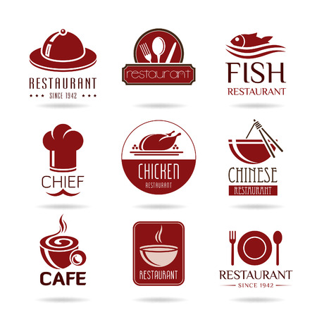 chef s hat: Restaurant icon set