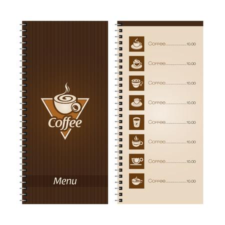 Set of coffee menu Vector