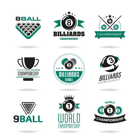 pool hall: Billiards and snooker icons set - 2 Illustration