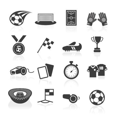 goal cage: Soccer icon set  Illustration