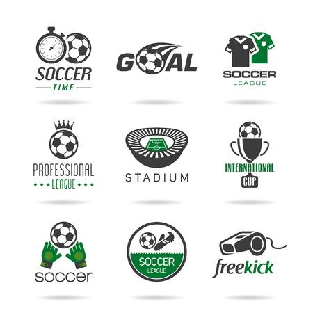 corner kick: Soccer icon set - 3 Illustration