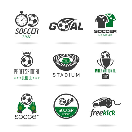 Soccer icon set - 3 Illustration