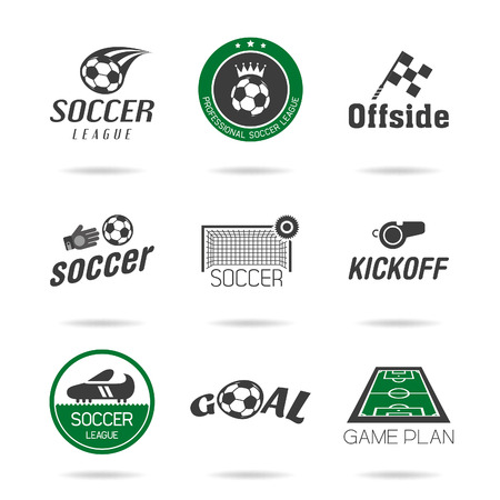 goal cage: Soccer icon set - 2