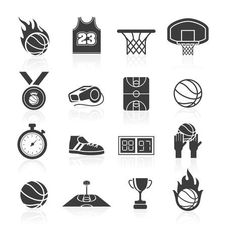 cancha de basquetbol: Baloncesto icon set