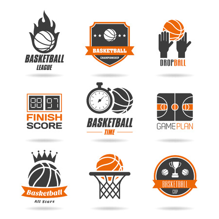 hoop: Basketball icon set - 2 Illustration