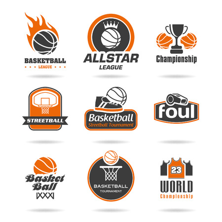 Basketball icon set - 3 Vector