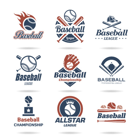 league: Baseball icon set