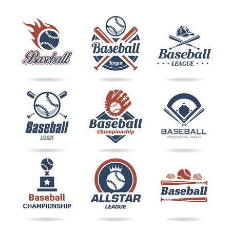 softbol: Icono de béisbol conjunto