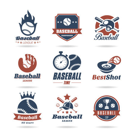 baseball stadium: Baseball icon set - 2