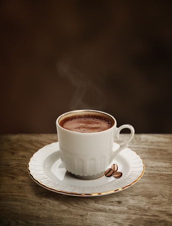 turkish coffee: Cup of Turkish coffee with clipping path Stock Photo