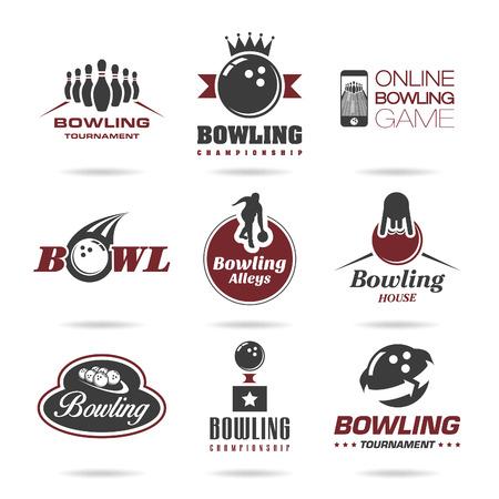 bolos: Icono Bowling conjunto - 3