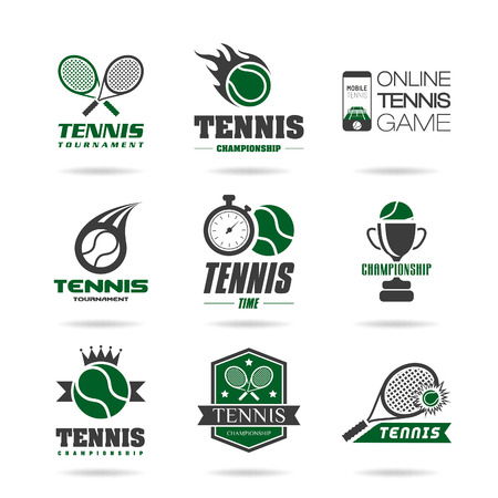 tennis racket: Tenis icon set