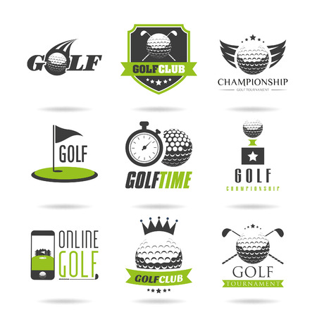 Golf icon set Illustration