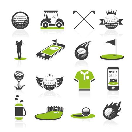 Golf-Symbol gesetzt