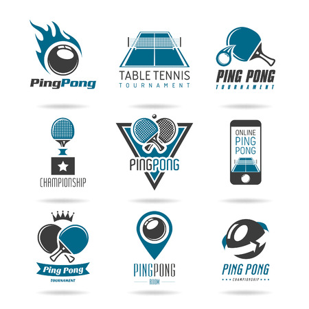 table tennis icon   일러스트