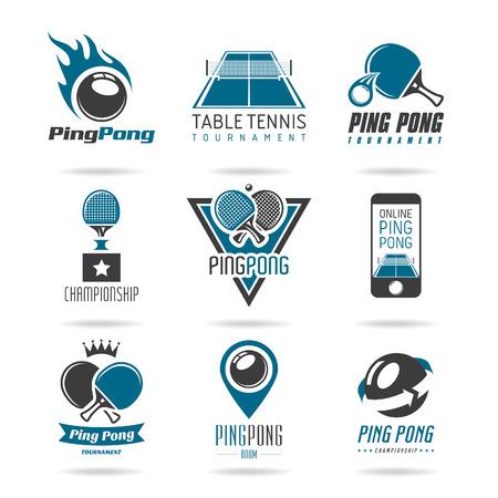tischtennis: Tischtennis-Symbol Illustration