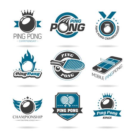 table tennis icon   Illustration