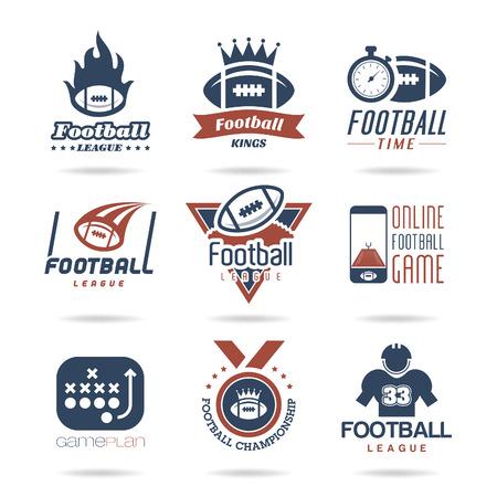 nfl football: Football Icon Set - 3 Illustration