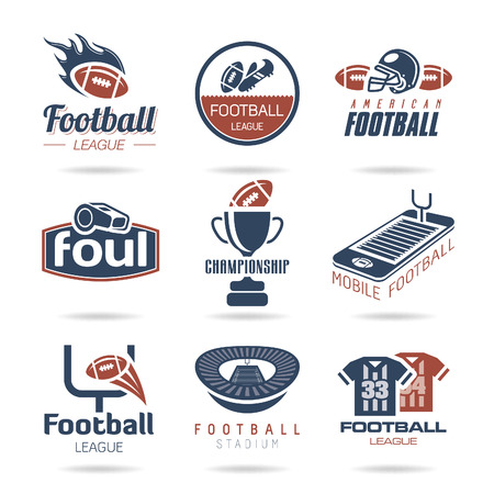 american football helmet set: Football Icon Set - 2 Illustration
